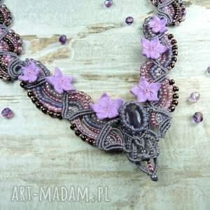 romantyczny naszyjniki fioletowe kobiecy naszyjnik z kamieniem