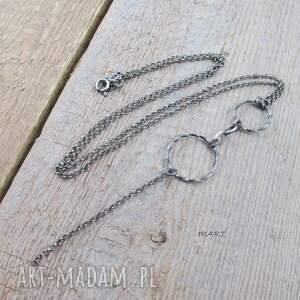 naszyjniki srebro koła w naszyjniku -