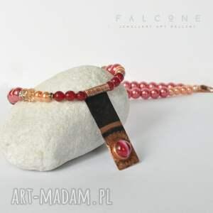 handmade naszyjniki kolia wiśniowy sorbet