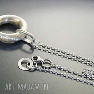 niekonwencjonalne naszyjniki srebro, wisior - koło
