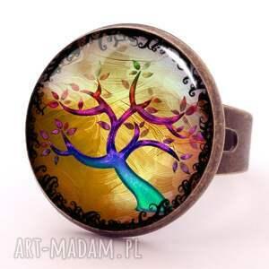 naszyjniki jesień kolorowe drzewo - sekretnik
