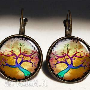 naszyjniki medalion kolorowe drzewo - sekretnik