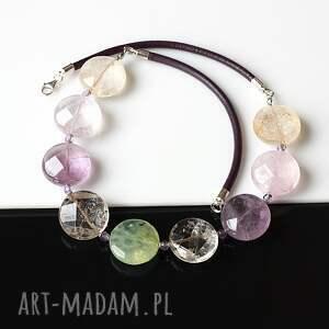 atrakcyjne naszyjniki kwarc kolorowy - naszyjnik