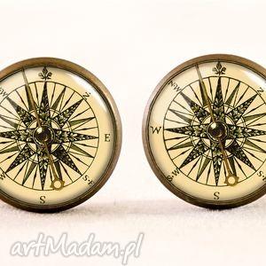 hand made naszyjniki vintage kompas - medalion z łańcuszkiem