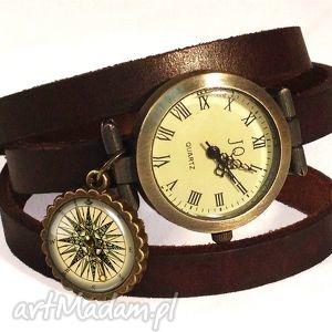 vintage naszyjniki kompas - medalion z łańcuszkiem