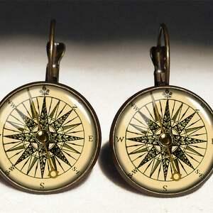 kompas naszyjniki - medalion z łańcuszkiem