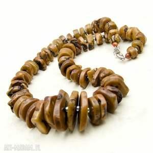 modne naszyjniki koral w karmelu b268