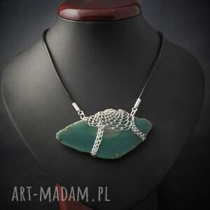 kamień naszyjniki koronkowy morski agat