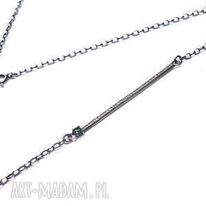 cyrkonia naszyjniki kreska emerald -naszyjnik