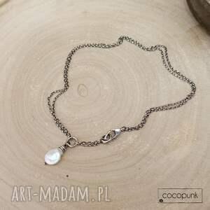 naszyjniki biała-perła krótki nowoczesny naszyjnik
