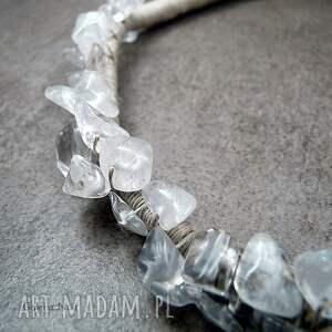 hand made naszyjniki boho kryształ górski - naszyjnik