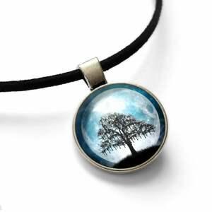 ręcznie robione naszyjniki choker księżycowe drzewo