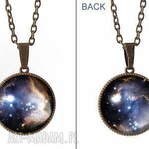 modne naszyjniki naszyjnik kulisty dwustronny medalion nebula