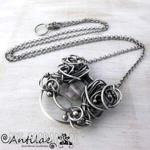 eleganckie naszyjniki naszyjnik pereti - kwarc mistyczny, srebro