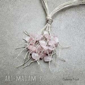 ciekawe naszyjniki pastelowy kwarc różowy - naszyjnik