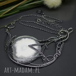 srebrny naszyjniki kwarc solar - naszyjnik gallar