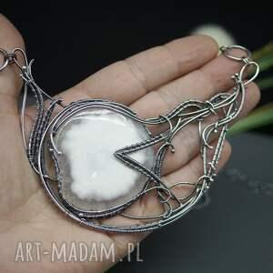 ręczne wykonanie naszyjniki srebrny kwarc solar - naszyjnik gallar