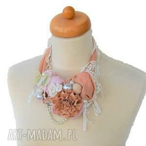 beżowy naszyjniki kwiat pustyni naszyjnik handmade