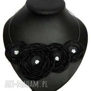 handmade naszyjniki kwiaty kwiatowa kolia