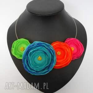 unikatowe naszyjniki kwiaty kwiatowa kolia