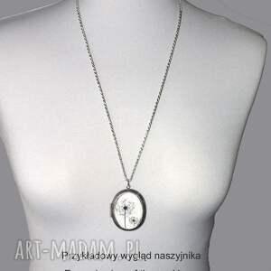 naszyjniki sekretnik kwiatuszki w szkle :: medalion