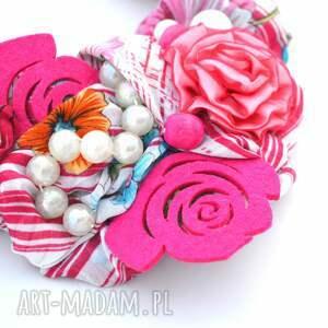 kolorowy naszyjniki kwiaty we włosach naszyjnik