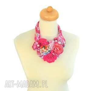 handmade naszyjniki naszyjnik kwiaty we włosach