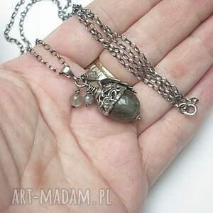 labradoryt naszyjniki naszyjnik wykonany ze srebra [pr. 925]