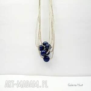 intrygujące naszyjniki lapis lazuli - lniany naszyjnik