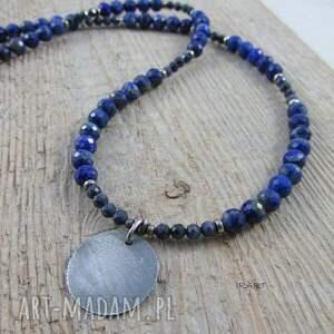 naszyjniki lazuli lapis z szafirem - naszyjnik