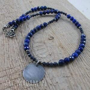 naszyjniki lapis lazuli z szafirem - naszyjnik
