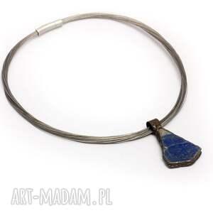 handmade naszyjniki naturlnie lapis lazuli