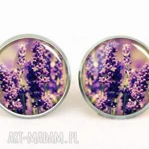 ręcznie wykonane naszyjniki wiosna lawenda - medalion z łańcuszkiem