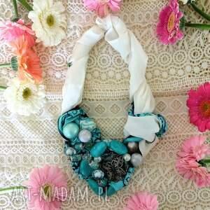 atrakcyjne naszyjniki kolia lazur naszyjnik handmade