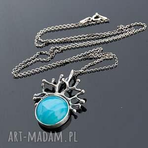 naszyjniki naszyjnik levente blue - srebrny