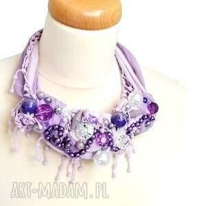 naszyjniki fiolet lilla naszyjnik handmade