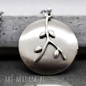 wyjątkowe naszyjniki medalion liście ze zdjęciem