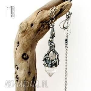 naszyjniki: Lodowy amulet - srebrny naszyjnik z kryształem górskim 925