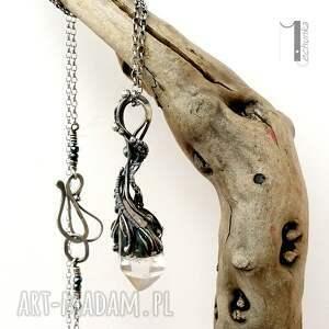 naszyjniki 925 lodowy amulet - srebrny naszyjnik