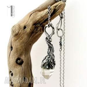 925 naszyjniki lodowy amulet - srebrny naszyjnik