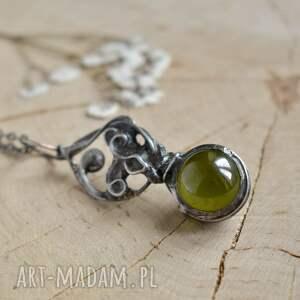 zielone naszyjniki naszyjnik wisior magic - z kulą