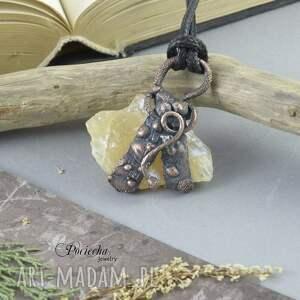 ręcznie robione naszyjniki naszyjnik magic yellow - z kalcytem