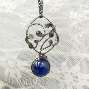 wisior kula naszyjniki niebieskie magiczna niebieska - naszyjnik