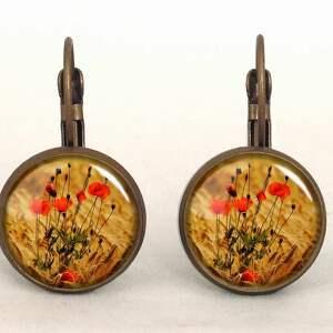 maki naszyjniki pomarańczowe - medalion z łańcuszkiem