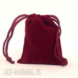 czerwone naszyjniki kwiaty maki - medalion z łańcuszkiem