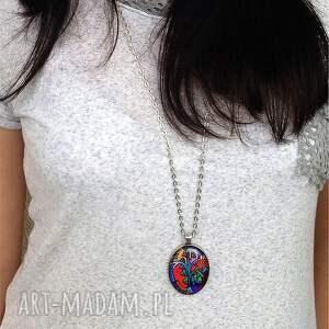 czarne naszyjniki medalion mały książę - owalny z
