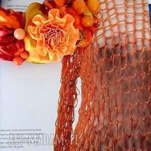 naszyjniki żółty mandarin naszyjnik handmade