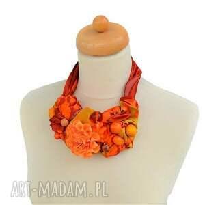 żółty naszyjniki mandarin naszyjnik handmade
