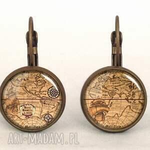 stara naszyjniki brązowe mapa świata - medalion