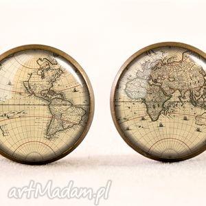 handmade naszyjniki medalion mapa świata - z